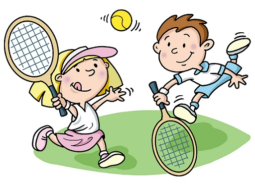 Play tennis cartoon